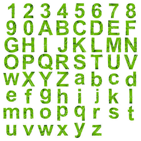 Full English alphabet - ABC in lower- and uppercase with cracked, fracture, shatter effect Vecteurs