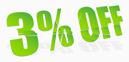 cracked, smashed, splattered and exploding percentage, discount numbers, numerals and letters for marketing, promotion vector illustration