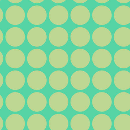 Polkadots, speckle, freckle circles seamless pattern. Halftone, half-tone colorful (duotone) repeatable pattern, vector Çizim