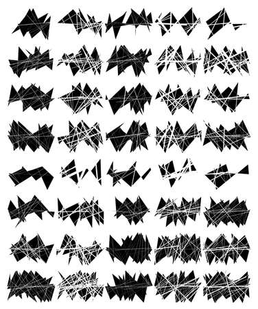crushed, cracked, destroyed and fractured or smashed surface texture template. vector illustration