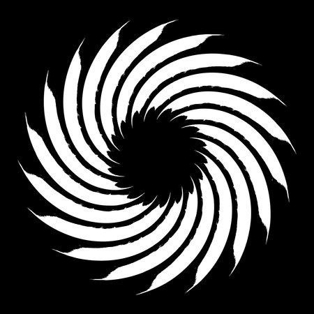 Spiral Helix, volute and vortex shape. Swirl, twirl, twist rotation vector illustration. Vector Illustration