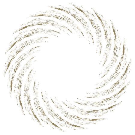 Spiral Helix, volute and vortex shape. Swirl, twirl, twist rotation vector illustration.