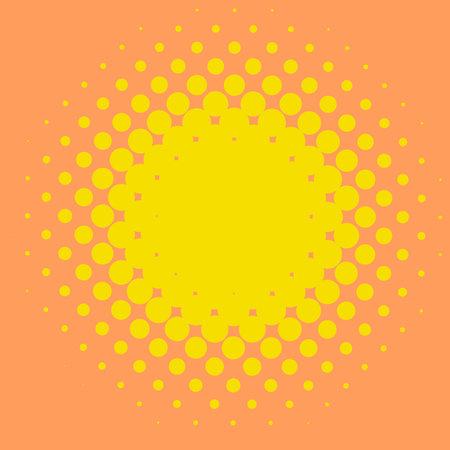 Colorful halftone vector pattern, texture design element. Circles, dots, screentone illustration. Freckle, stipple-stippling, speckles illustration. Pointillist vector art