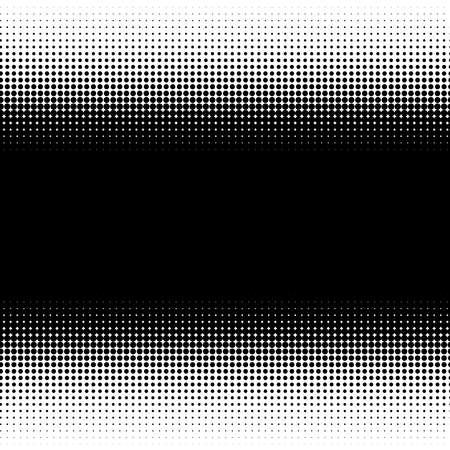 Linear, horizontal halftone vector pattern, texture. Circles, dots, screentone illustration. Freckle, stipple-stippling, speckles illustration. Pointillist vector art