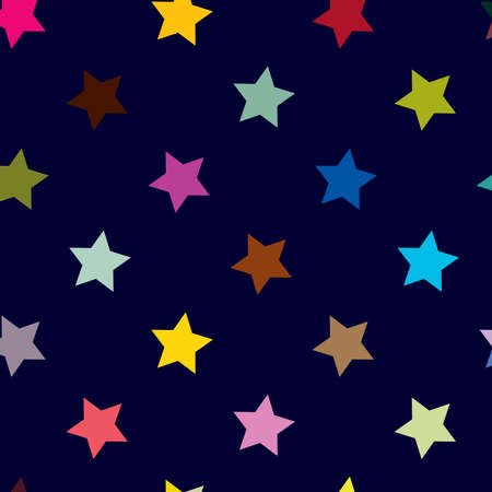 Repeatable star background, star pattern. Seamless starry wrapping paper pattern. Vector illustration