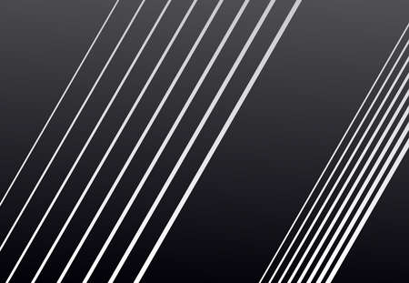 Diagonal, oblique and slanting, skew, tilted, angled lines, stripes abstract geometric black and white, grayscale background, pattern or texture. Lineal, linear, lined and striped vector graphics