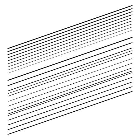 Dynamic diagonal and slanting lines element. oblique, skew and tilted stripes. bursting, radial streaks, strips. speed, trail and zoom lines comic effect