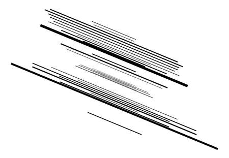 Dynamic diagonal and slanting lines element. oblique, skew and tilted stripes. bursting, radial streaks, strips. speed, trail and zoom lines comic effect Vector Illustratie