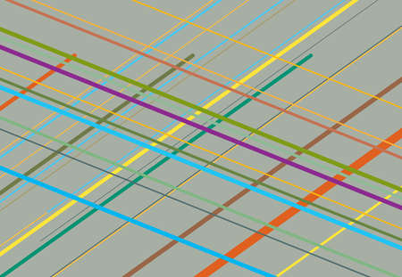 Multicolor diagonal, skew and oblique, traverse grid, mesh abstract geometric background. Vector illustration