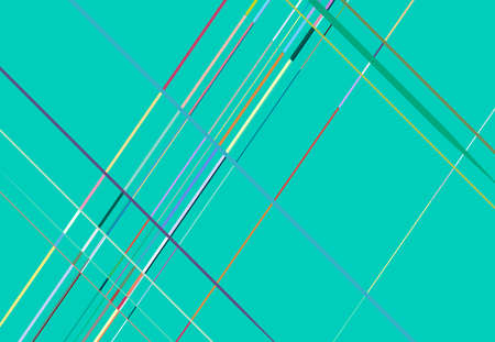 Colorful, multicolor oblique, diagonal and slanted mesh-grid abstract geometric background in rectangular format. Vector illustration