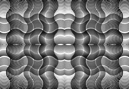 repeatable and tileable grid, mesh of zig-zag, criss-cross and wavy interlace, intertwine and interweave lines. abstract lattice and grating, grid and mesh texture, pattern and background