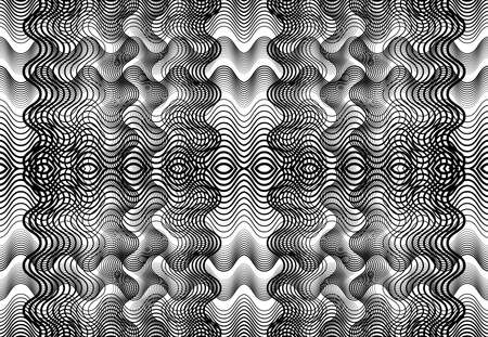 repeatable and tileable grid, mesh of zig-zag, criss-cross and wavy interlace, intertwine and interweave lines. abstract lattice and grating, grid and mesh texture, pattern and background 矢量图片