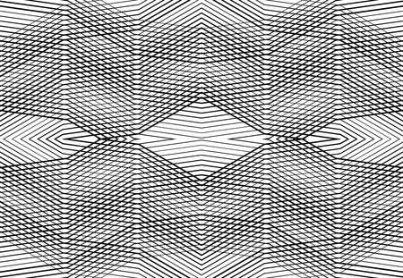 repeatable and tileable grid, mesh of zig-zag, criss-cross and wavy interlace, intertwine and interweave lines. abstract lattice and grating, grid and mesh texture, pattern and background Vektorové ilustrace