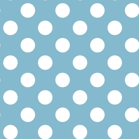 White circles, dots, speckles over color background. Seamless repeatable halftone pattern. Simple stipple, stippling, pointillist-pointillism wrapping paper illustration. Vector Ilustración de vector