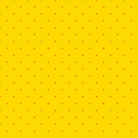 Popart, pointillist-pointillism seamless red, yellow circles, dots, dotted pattern, circles background. Vector