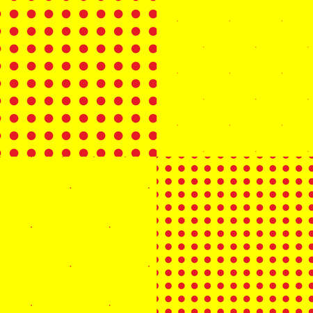 Pop-art, pointillist-pointillism seamless red, yellow circles, dots, dotted pattern, circles background. Pattern, background set