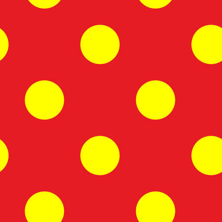 Popart, pointillist-pointillism seamless red, yellow circles, dots, dotted pattern, circles background. Vector 矢量图片