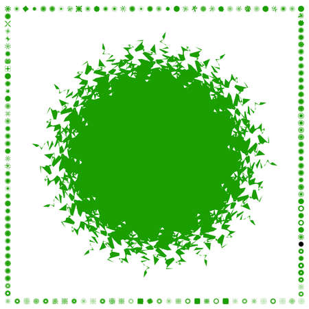 Green, organic-angular geometric generative art shapes, abstract vector illustration