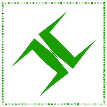 Green, organic-angular geometric generative art shapes, abstract vector illustration Vector Illustration