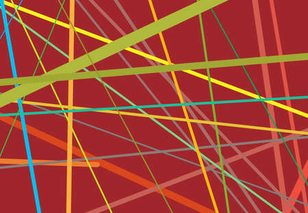 Random oblique, tilt, skew intersecting lines, stripes abstract vector art. Abstract colorful-multicolor background, pattern and texture