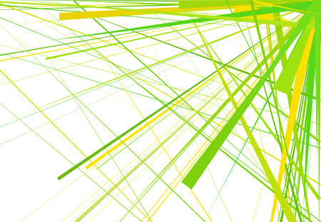 Random oblique, tilt, skew lines, stripes abstract vector art. Abstract green color background, pattern and texture
