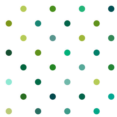 Circles, dots, polka-dots seamlessly repeatable colorful pattern, background. Speckle, stipple, stippling illustration. Vector