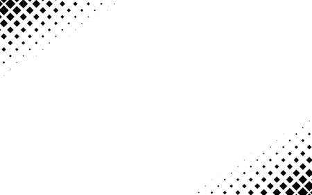 Squares halftone geometric background pattern and texture vector illustration Vektorové ilustrace