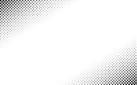 Squares halftone geometric background pattern and texture vector illustration Vetores
