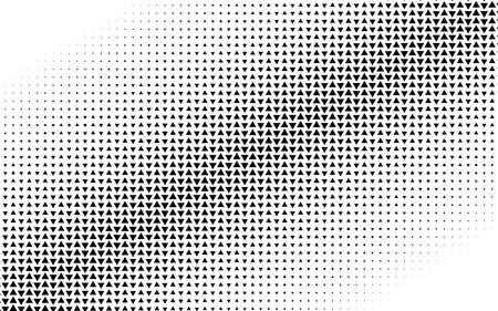 Triangles halftone vector illustration. Triangle geometric background texture and pattern Vecteurs
