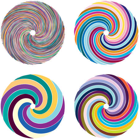 Circular Spiral, swirl, twirl design element. Concentric, radial and radiating burst of lines with rotation, gyre and curved distortion Vektoros illusztráció