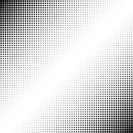 Squares halftone geometric background pattern and texture vector illustration
