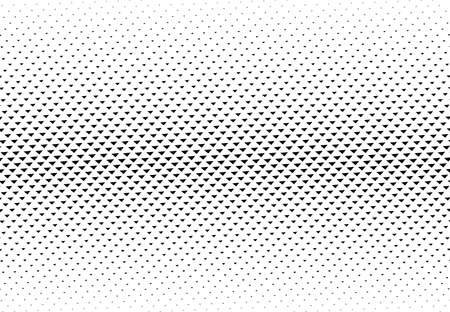 Triangles halftone vector illustration. Triangle geometric background texture and pattern