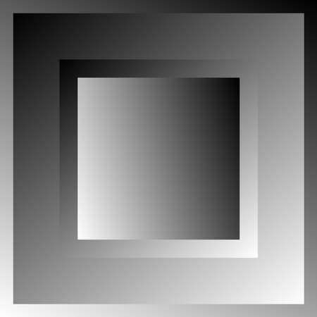 Overlapping squares, Blocks vector illustration. Grayscale squares Vektoros illusztráció