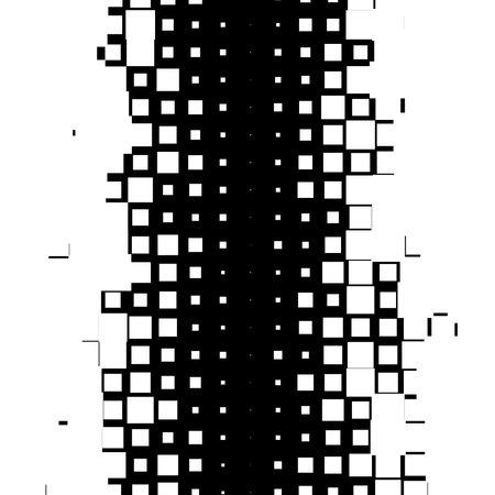 Random squares, blocks halftone (half tone) texture, pattern background