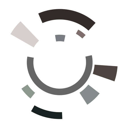 Cyber-cyberpunk, sci-fi geometric circles, rings. Hi-tech HUD elements. Concentric, radial revolving circles for techno, technology themes. Circular, round design elements Vecteurs