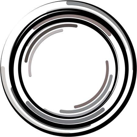 Overlaying abstract Spiral, Swirl, Twirl vector. Volute, helix, cochlear vertigo circular, geometric illustration. Abstract circle Vector Illustratie