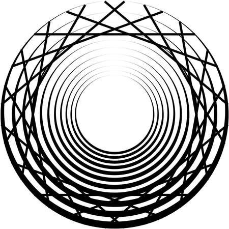 Overlaying abstract Spiral, Swirl, Twirl vector. Volute, helix, cochlear vertigo circular, geometric illustration. Abstract circle Ilustração Vetorial
