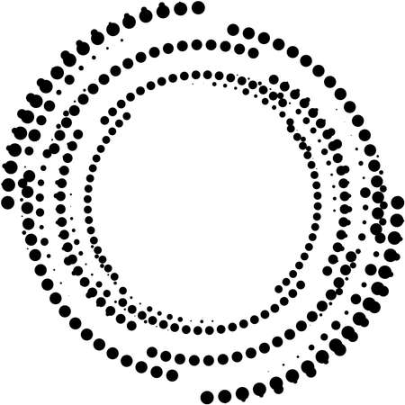 Overlaying abstract Spiral, Swirl, Twirl vector. Volute, helix, cochlear vertigo circular, geometric illustration. Abstract circle Vettoriali