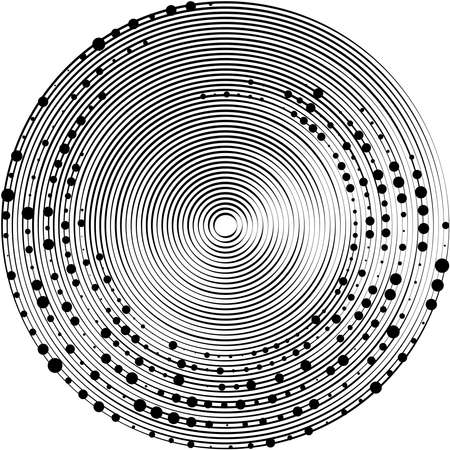 Overlaying abstract Spiral, Swirl, Twirl vector. Volute, helix, cochlear vertigo circular, geometric illustration. Abstract circle Векторная Иллюстрация