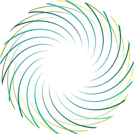 Overlaying abstract Spiral, Swirl, Twirl vector. Volute, helix, cochlear vertigo circular, geometric illustration. Abstract circle