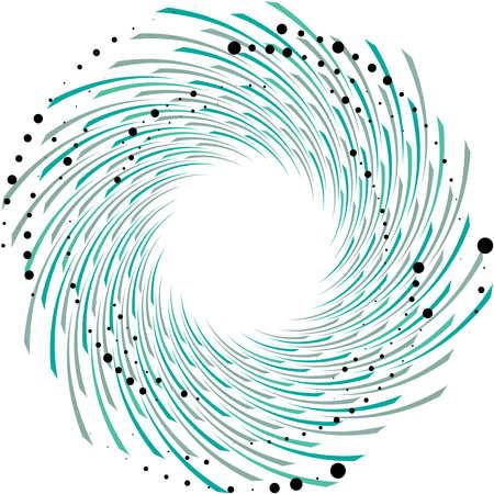 Overlaying abstract Spiral, Swirl, Twirl vector. Volute, helix, cochlear vertigo circular, geometric illustration. Abstract circle