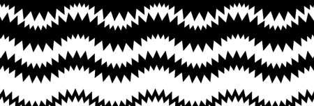 Wide rectangular format wavy, waving, zig-zag, criss-cross lines design element, pattern texture and background
