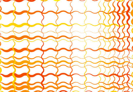 Grid, mesh of wavy, undulating, waving, billowy lines. Abstract colorful YELLOW, ORANGE geometric background, texture, backdrop and pattern