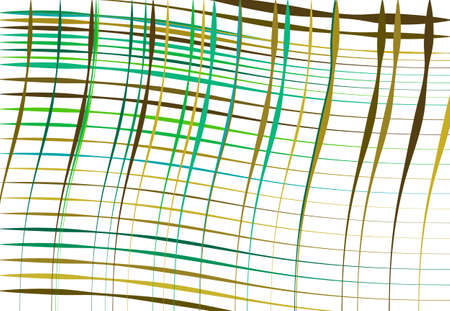 Grid, mesh of wavy, undulating, waving, billowy lines. Abstract colorful, multi-color GREEN background, texture, backdrop and pattern. squiggle, squiggly lines lattice, grille
