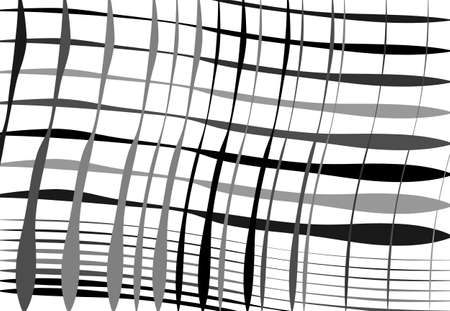 Grid, mesh of wavy, undulating, waving, billowy lines. Abstract black and white, grayscale background, texture, backdrop and pattern
