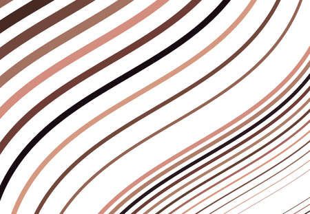 Colorful wavy, waving and undulating, billowy diagonal, olbique and slanting, skew, tilt lines, stripes abstract design element. Colorful brown background, pattern and texture Ilustración de vector