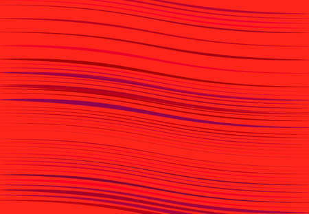 Abstract wavy, waving, billowy and undulating lines, stripes. Squiggly, squiggle lines with twist effect. Abstract colorful RED pattern, background, backdrop and texture