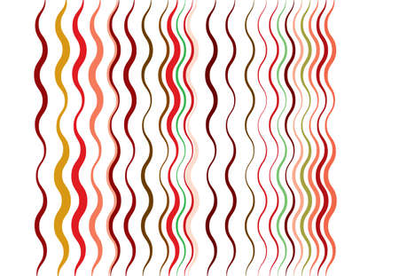 Abstract wavy, waving, billowy and undulating lines, stripes. Squiggly, squiggle lines with twist effect. Abstract multi-color, colorful pattern, background, backdrop and texture