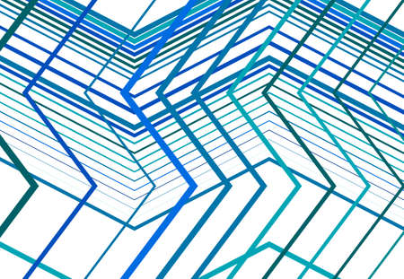 Zig-zag, criss-cross, serrated, crinkled angular grid, mesh, lattice or grating, grill of random angled lines. Abstract geometric colorful BLUE background, texture and pattern Vektorgrafik