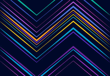 vivid, vibrant corrugated, wavy, zig-zag, criss-cross and serrated, crinkled, wrinkle lines, stripes abstract geometric colorful, multi-color pattern, background, texture or backdrop